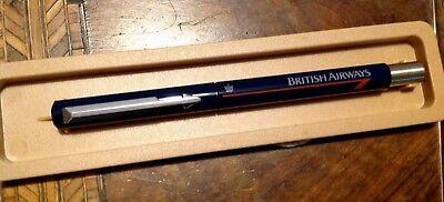 Vintage Boxed British Airways Parker Roller Ball Blue Ink Pen