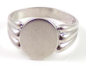 Sterling-Silver-Vintage-Signet-ID-Identification-Engravable-Ring-Size-6