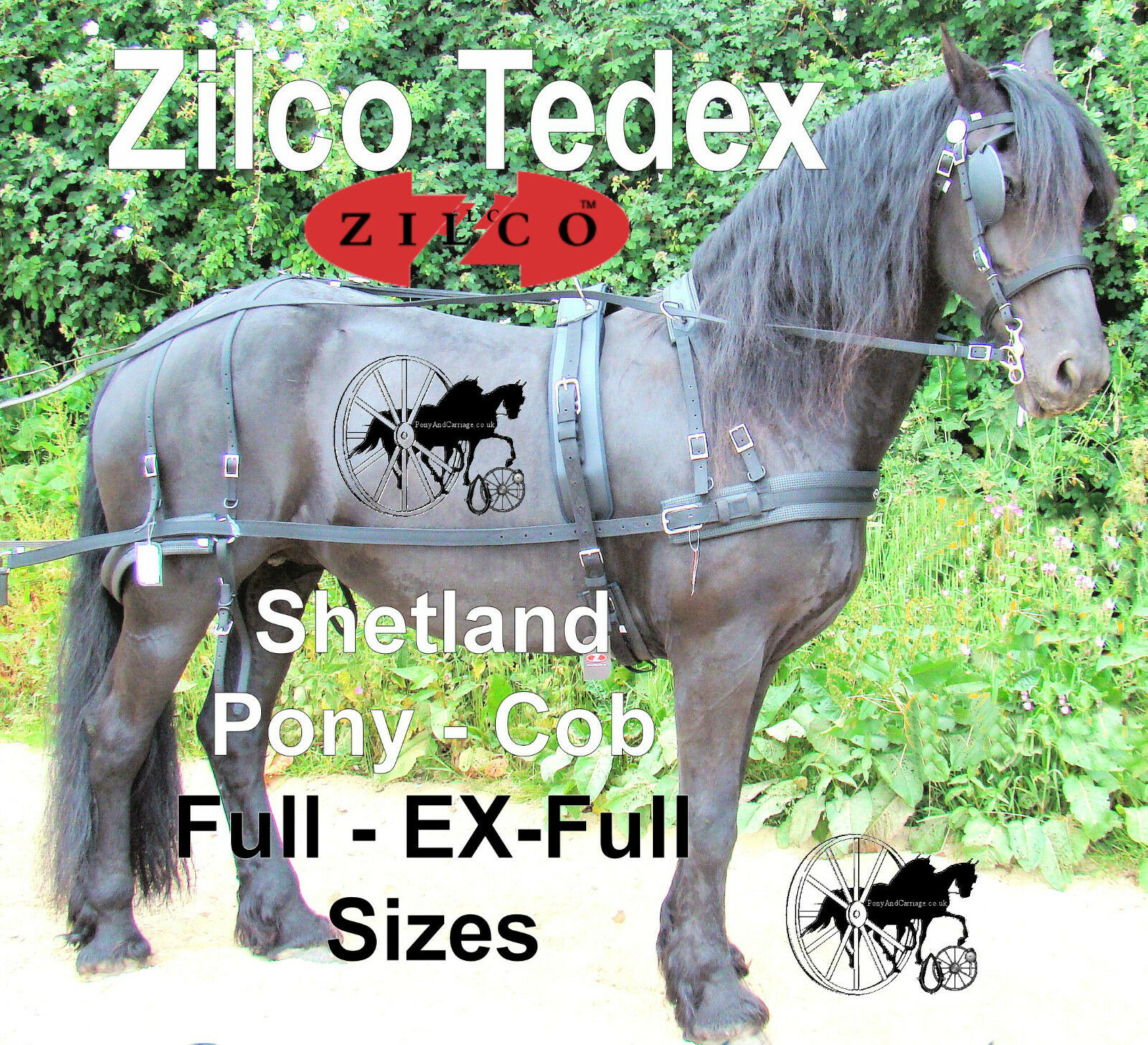 Horse Harness Carriage Driving Strong Quality Zilco Tedex All Sizes