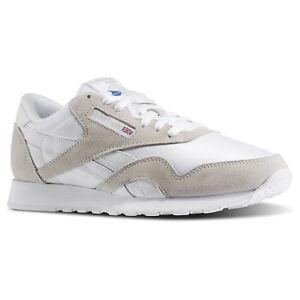 2d35c98719c Reebok Classic Nylon White Gray For Men s Size 7.5 to 13 New In Box ...