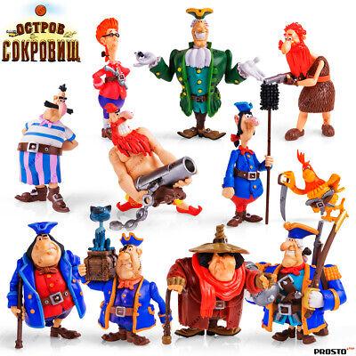 "PROSTO TOYS /""Treasure Island/"" Cartoon Character Collection Figures"