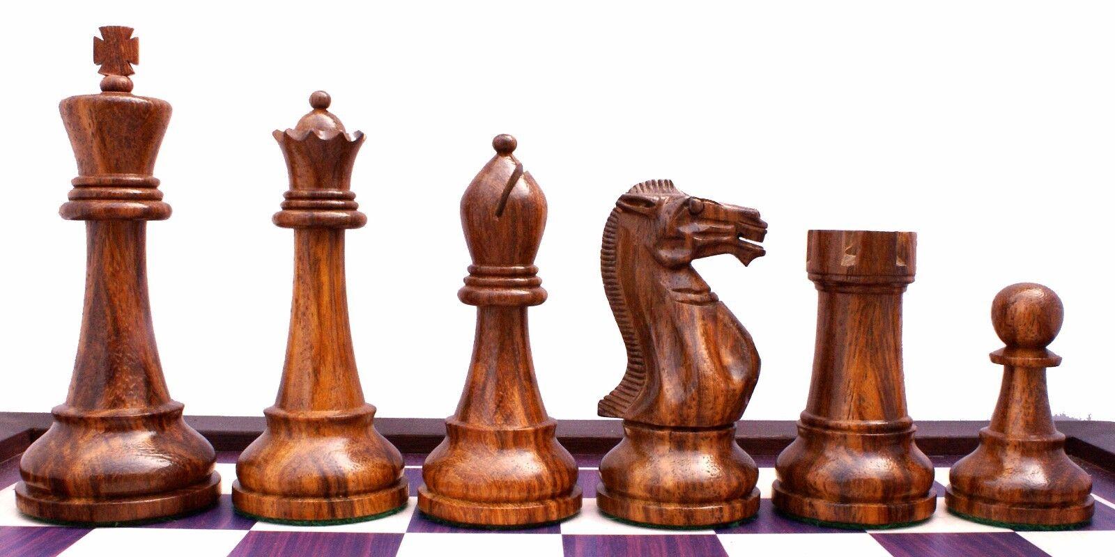 Verona Series Premium Staunton 4   ChessHommes in oren Rose bois & Box bois  vente chaude en ligne