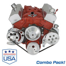 Small Block Chevy Alternator And Power Steering Brackets Combo Long Pump Sbc 350