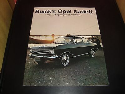 ORIGINAL 1967 OPEL KADETT PRESTIGE SALES BROCHURE ~ 20 PAGES ~ 67OPEL
