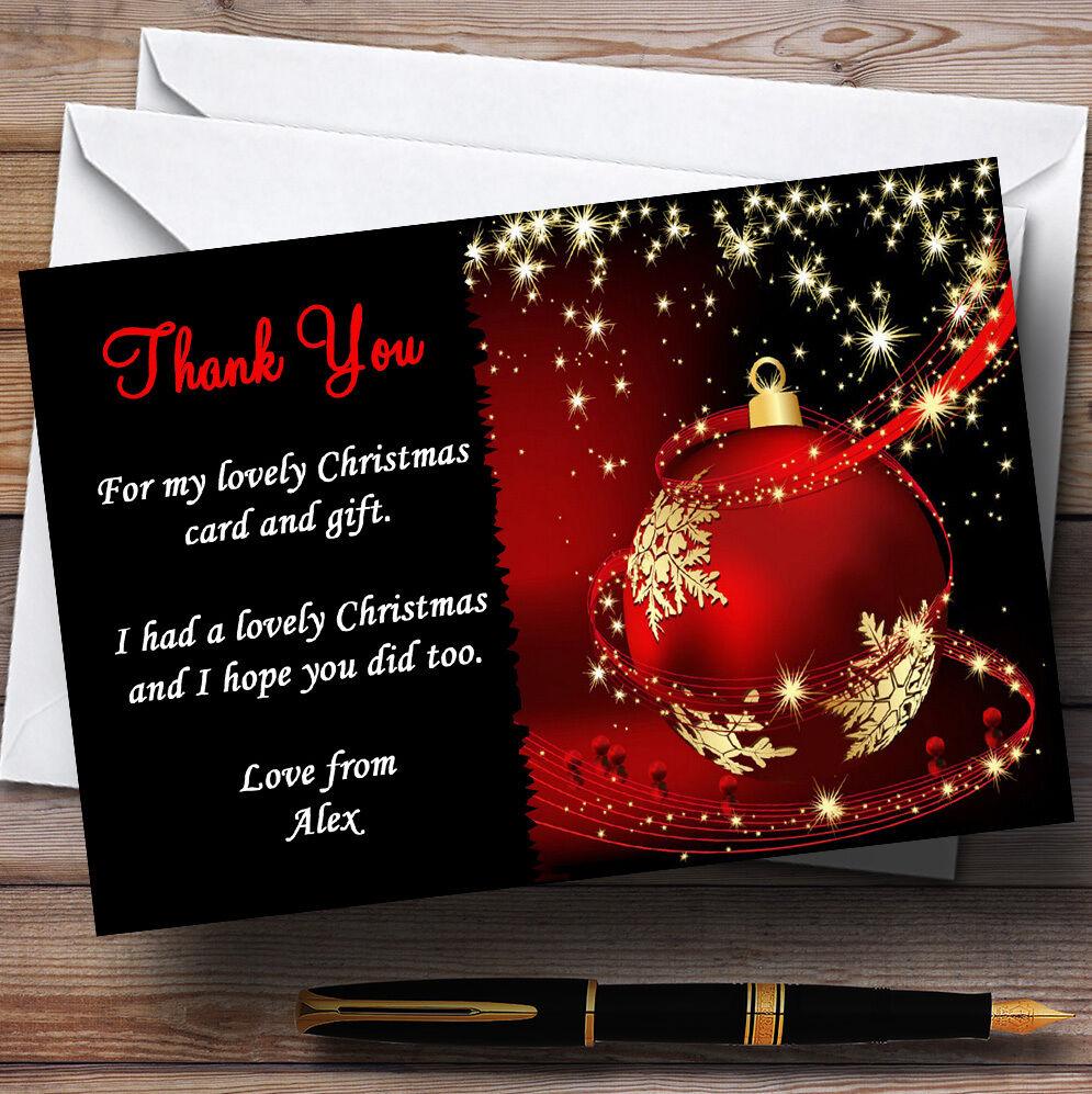 Or de rouge et noir personnalisé fête de Or noël cartes remercieHommes t 3bbcb0
