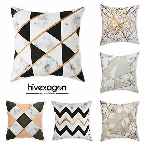 Hivexagon Kissenbezüge 45x45 cm aus Mikrofaser Kissenhüllen 6er Set Weich mit