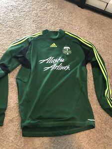 Adidas Portland MLS Soccer Goalie Jersey Adult Large Clima-Lite ...