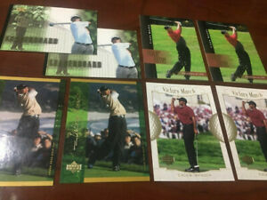 Details About 2001 Upper Deck Tiger Woods Rookie Card Lot 8 Eight Cards Wow Hes Back