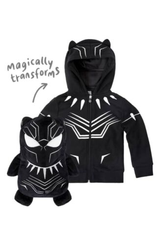 CUBCOATS Marvel Avengers Black Panther Transforming Plush Hoodie Kids Size 8