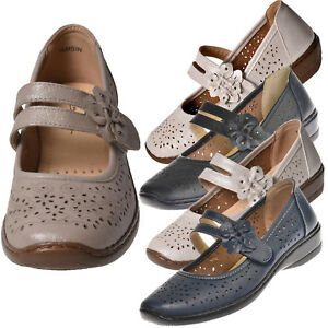 Womens-Ladies-Mary-Jane-Flats-Grip-Sole-Padded-Office-Work-Comfort-Summer-Shoes