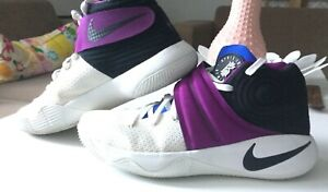 Nike Kyrie Irving 2, KYRACHE - White and Purple Basket Sneakers Size 10.5 Men