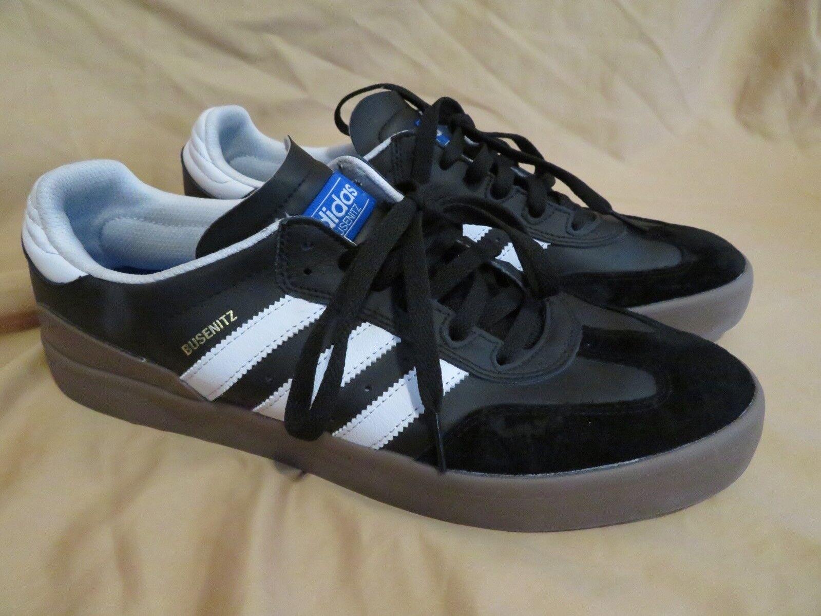 de nouvelles baskets adidas busenzit hommes en noir et de blanc de et chewing - gum vulc skateboard chaussures taille 12 b07e6f