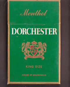 Empty Packet 20 Dorchester Menthol King Size Low Tar Made in Germany - <span itemprop=availableAtOrFrom>Elgin, Moray, United Kingdom</span> - Empty Packet 20 Dorchester Menthol King Size Low Tar Made in Germany - Elgin, Moray, United Kingdom