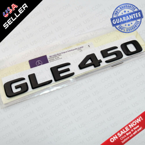 Gloss Black ABS GLE 450 Emblem 3D Trunk Logo Badge Decoration AMG Modified