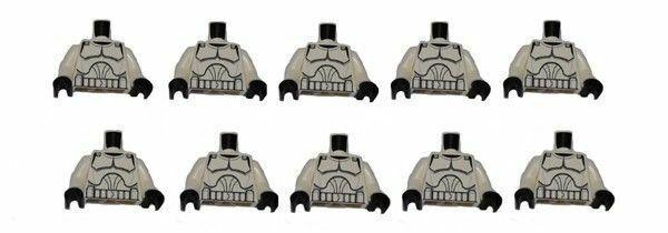 Star Wars LEGO x 10 White Torso SW Armor Clone Trooper Pattern Clone Wars