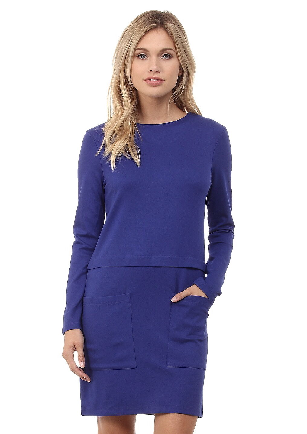 NWT  French Connection Northern Jumper Jersey Dress Prince 71EDW