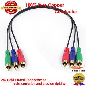 5 6ft premium 3 x RCA componet video RGB cable 1 10 Lot