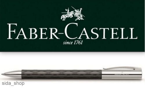 Faber-Castell AMBITION Rhombus Drehkugelschreiber Edelharz schwarz NEU/&OVP