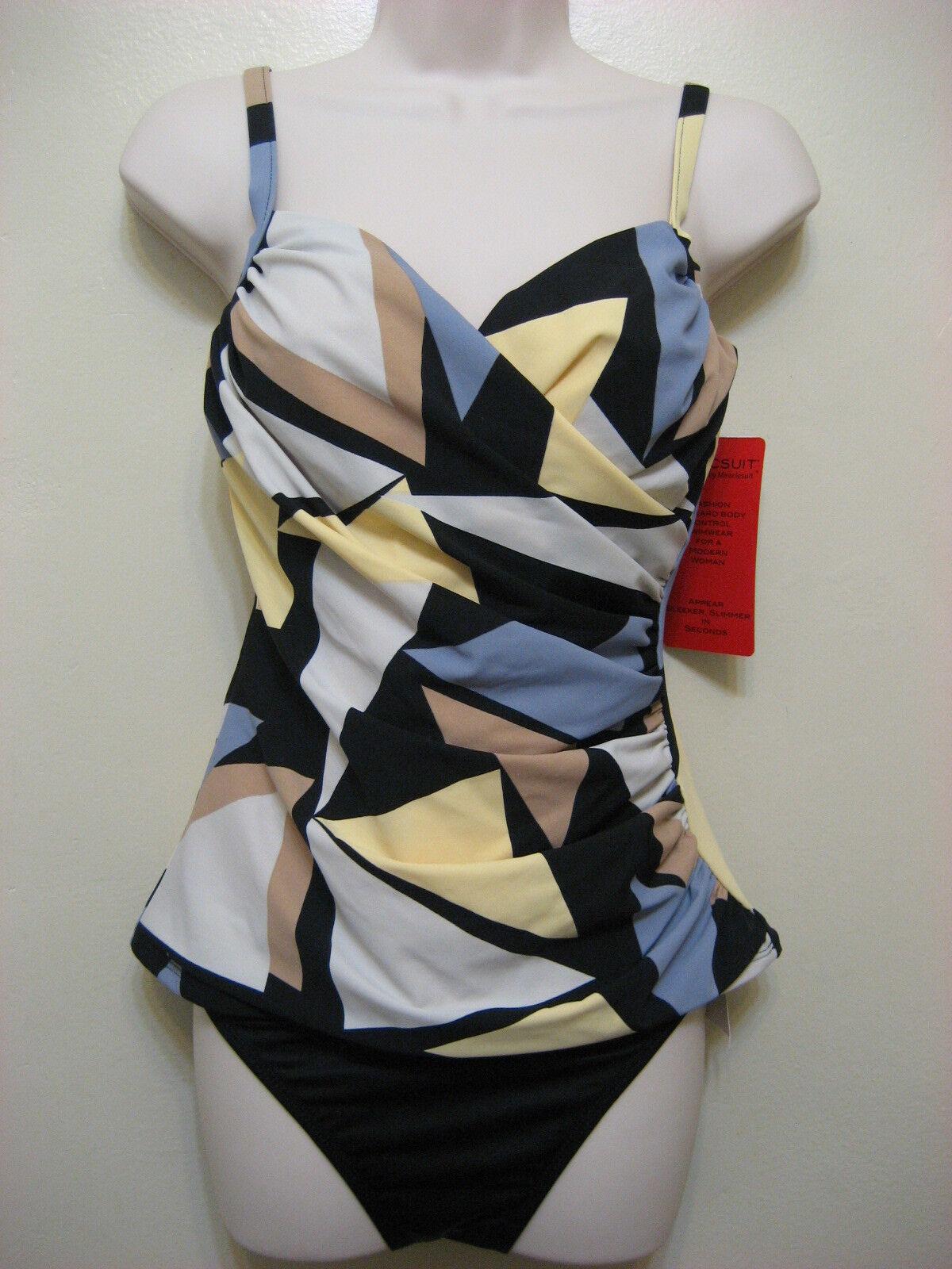 Magicsuit by Miraclesuit 2-Piece Tankini Bikini Swimsuit Yellow Size 8 NWT