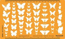 Butterfly Butterflies Drawing Drafting Template Stencil Jewellery Jewelry Design