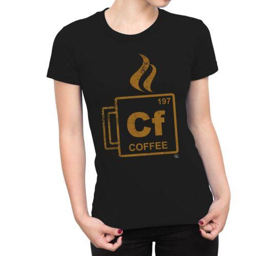 1Tee Bottines Femme FC tableau périodique Café T-Shirt