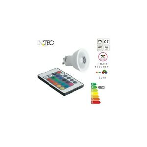 INTEC-Faretto-Faro-RGBW-Lampadina-Luce-Dimmerabile-Colorata-LED-Telecomando-GU10
