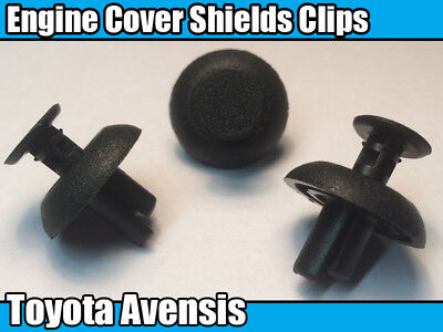Plastic Trim Fasteners for Motor Shields /& Panels 20x Toyota Engine Cover Clips