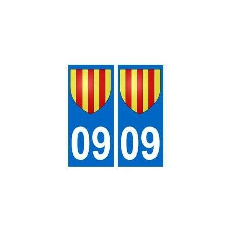09 Foix Blason Ariège Autocollant Plaque - Angles : Droits Prijs Blijft Stabiel