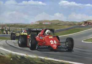 Print on Canvas 1983 Dutch Grand Prix Zandvoort by Toon Nagtegaal (LE)