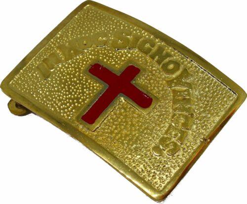 MASONIC KNIGHTS TEMPLAR BELT BUCKLE GOLDEN $19.99