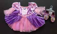 Disney Store Tangled 18-24 Months Rapunzel Costume Dress Headband & Shoes