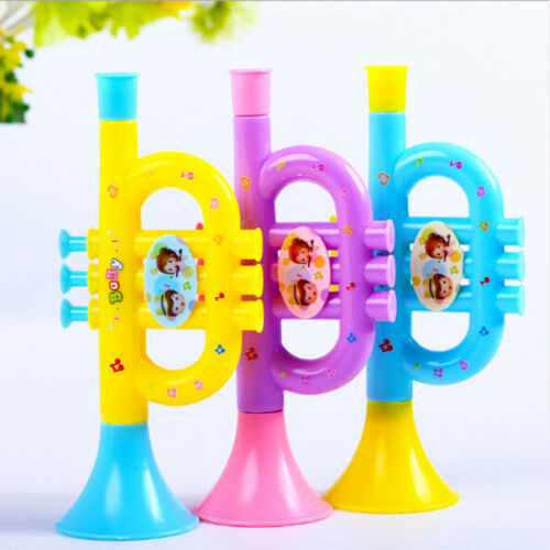 Colorful Trumpet Hooter Baby Kids Musical Instrument Early Education/_Toy//CL l vv