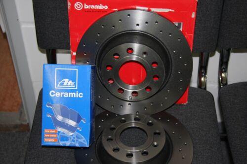 jeu pour arrière 8j Brembo Xtra Disques De Frein Et UAT Ceramic-garnitures Audi Tt