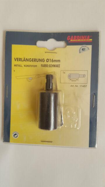 Gardinia Verlängerung für Träger offen Schwarz 40mm Ø 16 mm