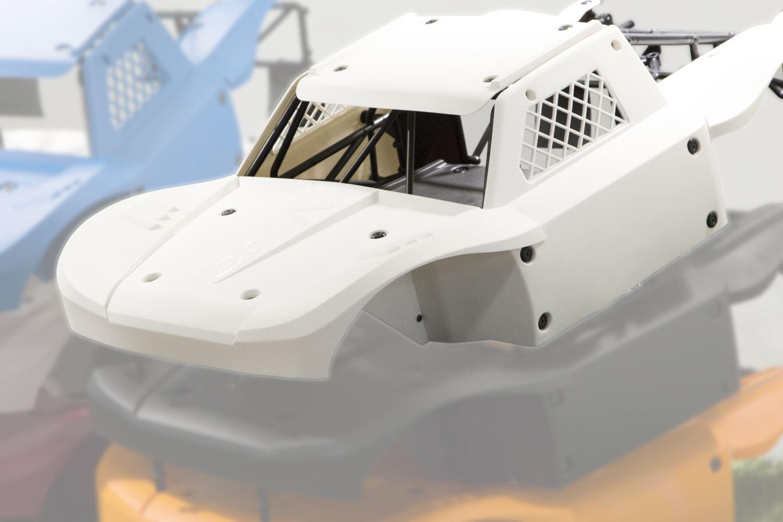30 GRADI NORD DTT Big Flex Flessibile Carrozzeria Bianco Per Losi 5ive KM X2