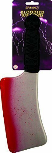 BLOODY Sangue imbrattato armi di plastica coltello FALCE Mannaia Mannaia Halloween