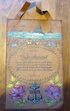 PIECE UNIQUE : USN US NAVY peinture sur cuir souple marine AMERICAINE WW2 42/45
