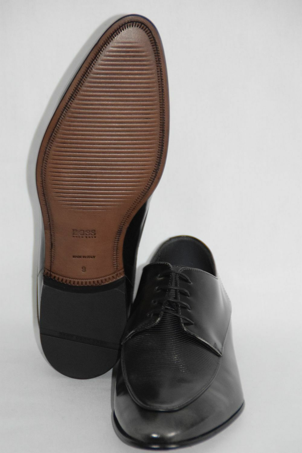HUGO BOSS BUSINESSSCHUHE, BUSINESSSCHUHE, BUSINESSSCHUHE, Gr. 43 / UK 9,   , Made in , Dark Grau a6f813