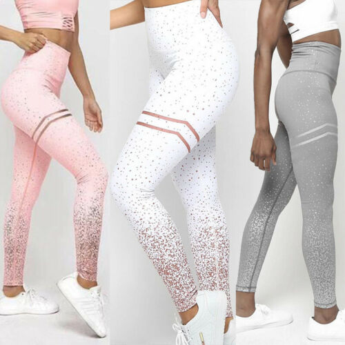 Womens Fitness Exercise Yoga Leggings Sports Running Gym Workout Pants Trousers
