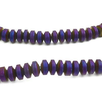 Aprox. 210 Metal Perlas Hematites Facetada Aprox. 4x2mm Violeta Perlas Nenad-design An658 Con Una ReputacióN De Larga Data