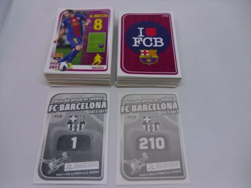 PANINI FC BARCELONA 2012 2013 Complete Loose Set of 210 Stickers