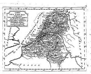 Antique-map-Carte-des-pays-bas-comprenant-les-provinces-unies