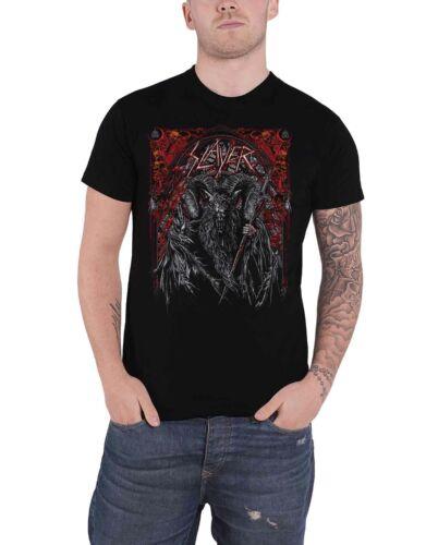 Slayer T Shirt Baphomet European Tour 2018 Band Logo new Official Mens Black