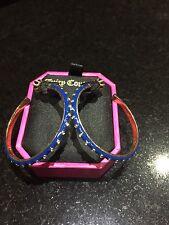 NIB Juicy Couture New & Gen. Gold Plated & Blue Hoop Earrings (Pierced) & Logo