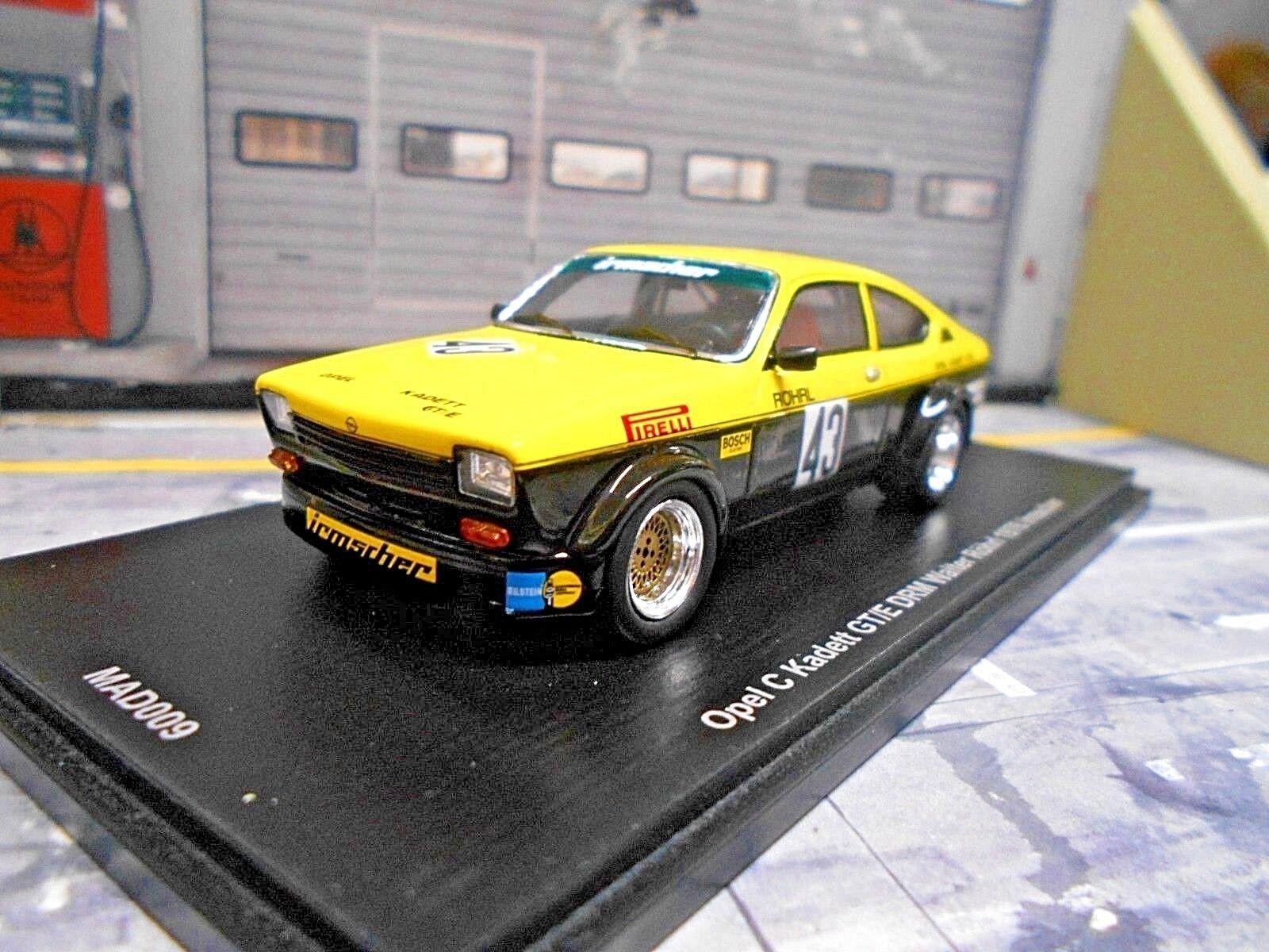 Opel Kadett C Kadett GT E Coupe DRM 1976 Röhrl irmscher Spark nuevo 1 43