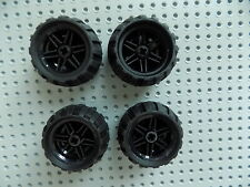 4x Lego Technic Rim Black Wheels Wheel Technic 30.4mm D.x20mm 4299389 56145