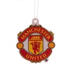 Manchester United Fc Man Utd Air Freshener Red & Yellow Football Crest Logo New