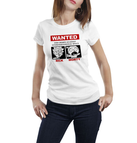 Rick and Morty Tshirt Wanted poster