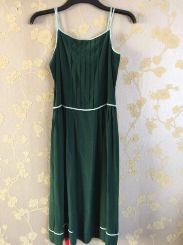 Black Green Dress Women Label Silk 38 Size Bnwt Smith Paul 100 6qIwT65