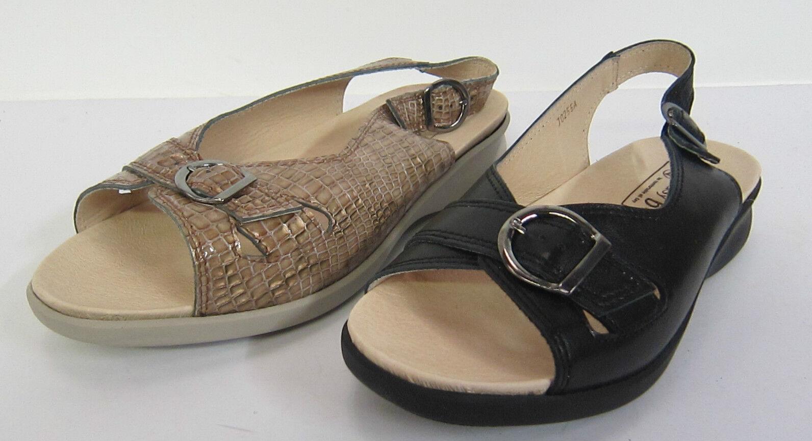 Mujer Fácil B 'Sicilly' colores- Sandalias de cuero 2 colores- 'Sicilly' Negro & Camel adecuado- V 64678f